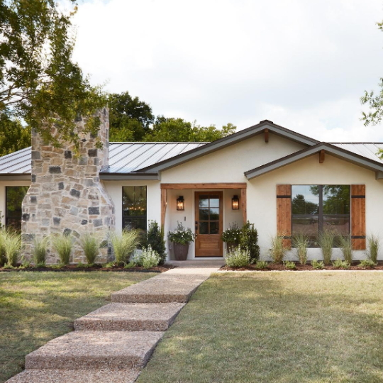 Real Life Rooms A Reimagined Ranch Exterior With Added Curb Appeal