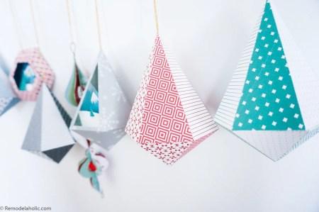 DIY Paper Ornament Templates, Printable Christmas Decorations