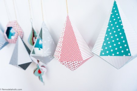 DIY Paper Ornament Templates, Printable Christmas Decorations