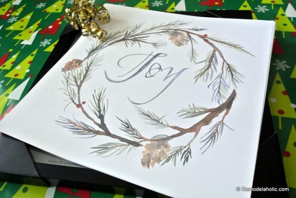 Easy Last Minute Gift Idea Printable Holiday Art Set Digital Download At #remodelaholic