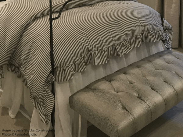 Metallic Upholstered Bench At End Of Bed In A Modern Teen Girls Bedroom Jerry Stubbs And Tique And Co 2018 Utah Valley Parade Of Homes Featured On Remodelaholic