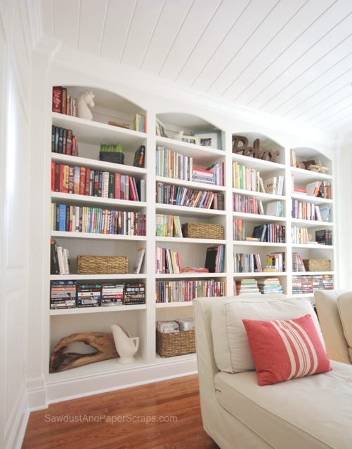 Sawdust Girl Library Shelves