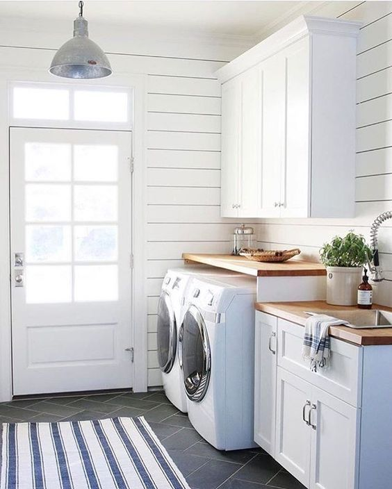 Budget Friendly Modern Farmhouse Family: Creating A Lovely Laundry Room + Modern