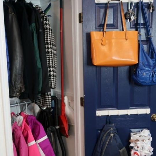 Improved Small Coat Closet Organization For Our Entryway