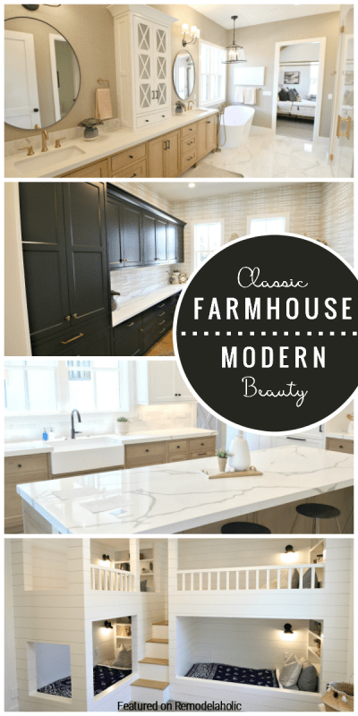 Classic Farmhouse And Modern Beauty Combine In This Luxurious Home Come See The Rustic Comfort And Clean Textures Of This Family Home Featured On Remodelaholic