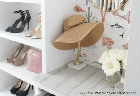 DIY Closet Organizer Custom Pink Little Notebook Featured On Remodelaholic