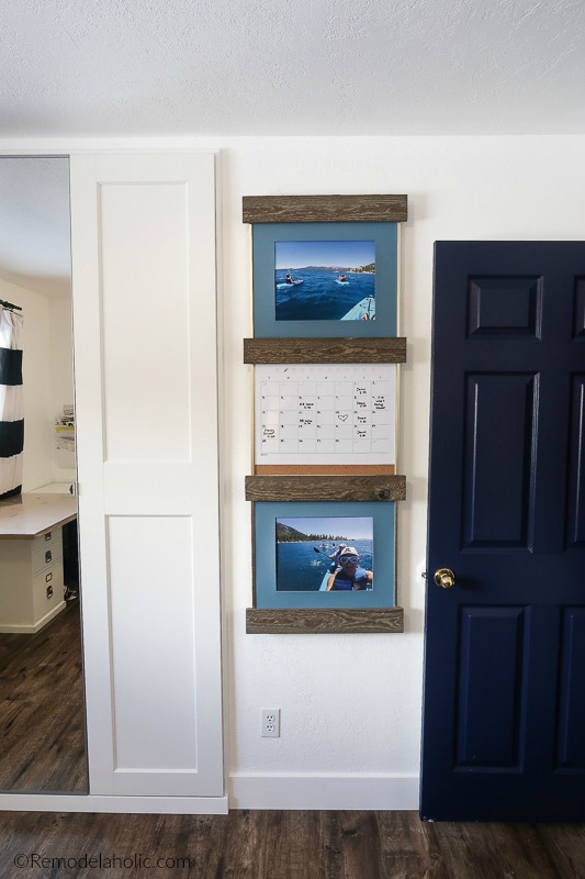 Decorate An Empty Wall In An Hour With Easy Diy Wood Sliding Photo Frame Ledges #remodelaholic