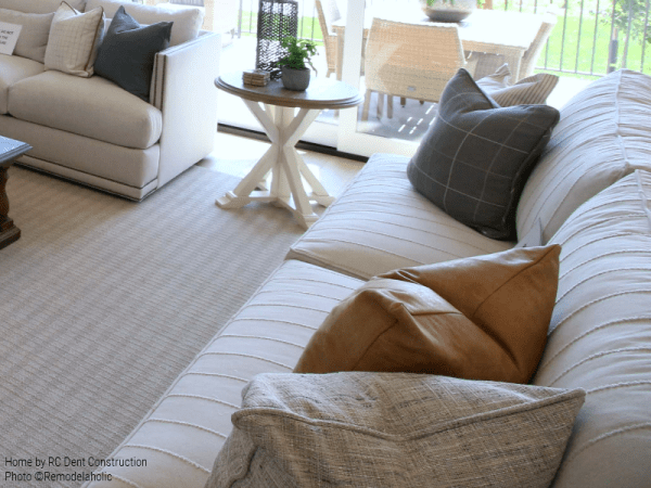 A Neutral Colored Sofa Defines A Space But Doesn't Dominate RC Dent Construction And Remedy Design 2018 Utah Valley Parade Of Homes Featured On Remodelaholic