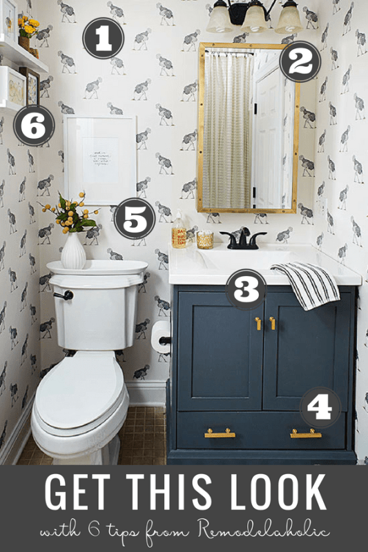 Get This Look Farmhouse Chic Bathroom Remodelaholic 1