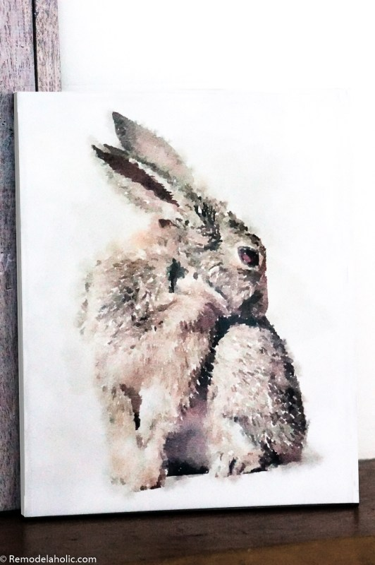 Watercolor Bunny Printable For Spring And Easter Decorating #remodelaholic