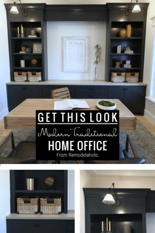 Remodelaholic Get This Look Modern Traditional Home Office