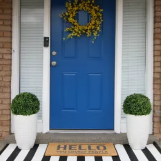 Adding Curb Appeal Colorful Spring Porch Update