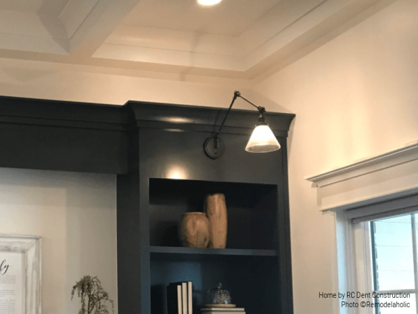 Extension Arm Built In Lighting In Modern Home Office RC Dent Construction And Remedy Furniture And Design Utah Valley Parade Of Homes Featured On Remodelaholic