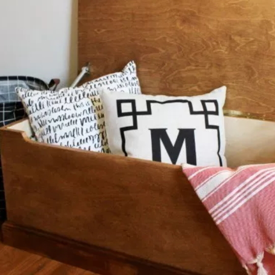 Simple DIY Wooden Storage Chest Plans An Easy Plywood Storage Box With Geometric Inlay