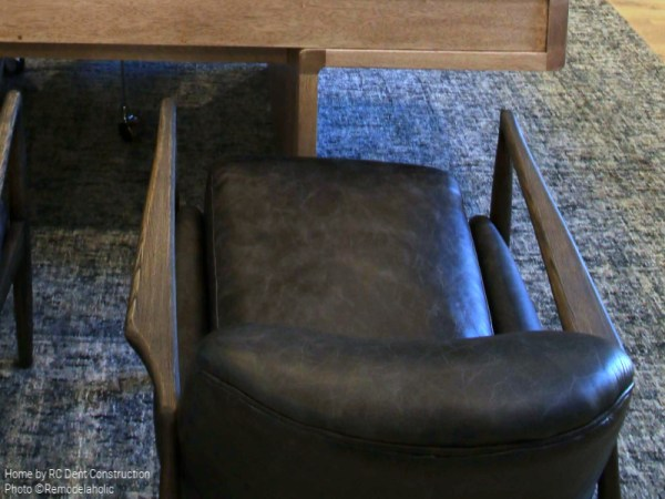 Leather And Wood Office Chair In Modern Home Office RC Dent Construction And Remedy Furniture And Design Utah Valley Parade Of Homes Featured On Remodelaholic