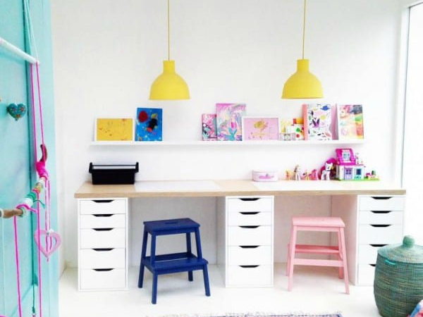 Budget Friendly Kids Homework Station By Saarkeloves On Remodelaholic