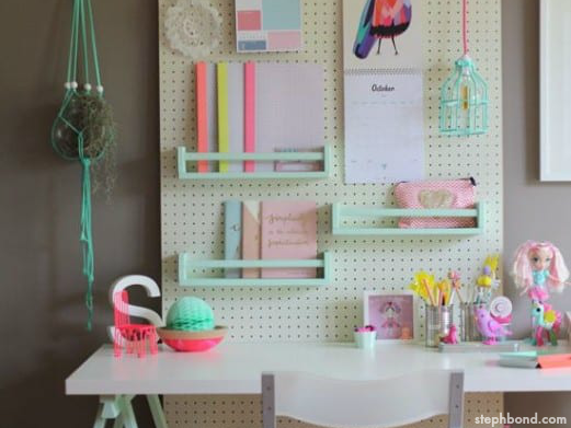 Simple Ideas For Kids Desk Organization By Stephbond Featured On Remodelaholic