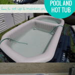 Inflatable Pool Setup And Hot Tub Maintenance #remodelaholic