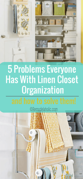 Linen Closet Organization how-to