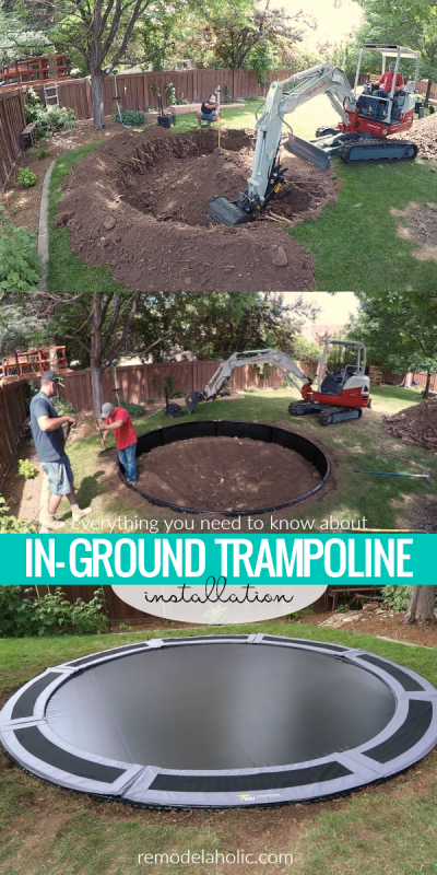 FAQ And Everything You Need To Know About In Ground Trampoline Installation #remodelaholic