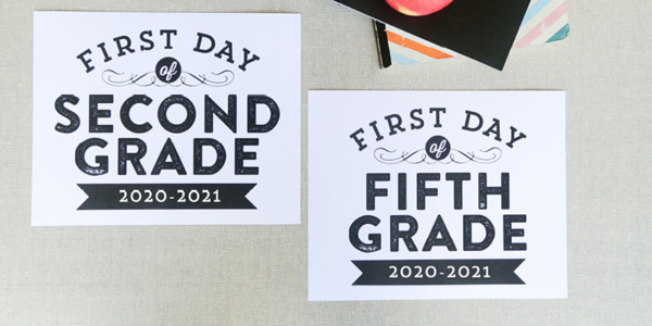 First Day Of School Signs Featured