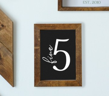 Family Name Number Dates Printable Sign Set #remodelaholic