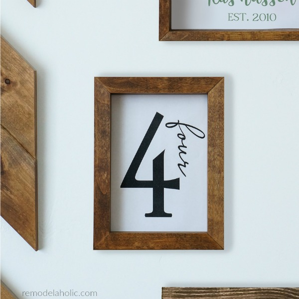Printable Family Number Sign, Farmhouse Family Gallery Wall, Instant Download #remodelaholic