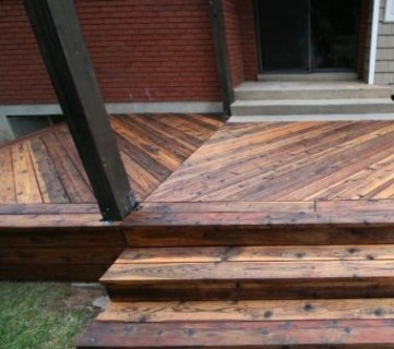 Restore Refinish Redwood Deck With Oil 002
