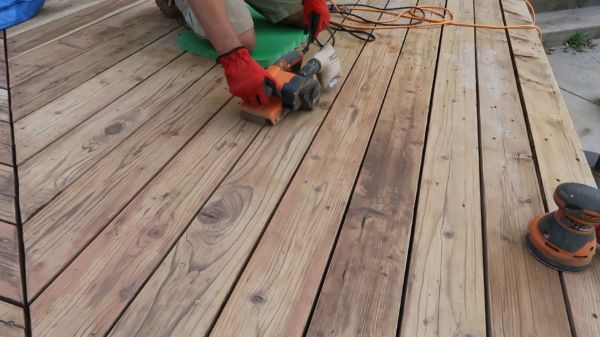 Restore Refinish Redwood Deck With Oil 006