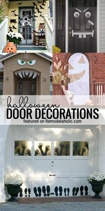 Halloween Door Decorations For Front Doors And Garage Doors Featured On Remodelaholic.com