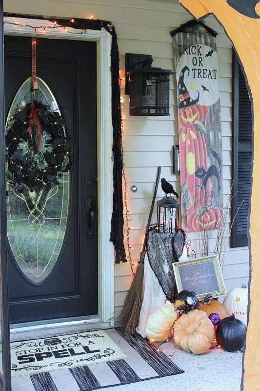 Halloween Front Door Decor Knock It Off Kim