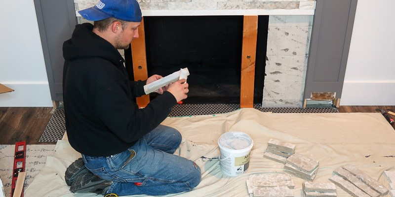 DIY Fireplace Makeover Part Three: AirStone Installation
