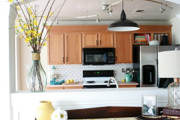Updating Builder Grade Cabients Without Painting Image Of Wood Cabinets In A Kitchen