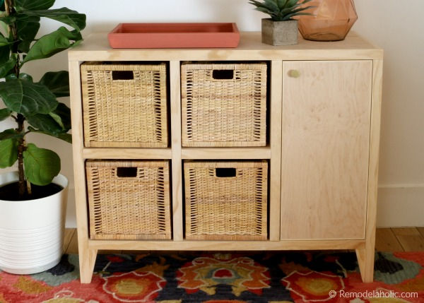 DIY Entry Table With Cubby Storage And Cabinet, Video Tutorial And Woodworking Plan Remodelaholic