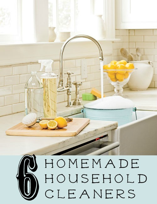 Homemade House Cleaners Image Of Kitchen With Bucket Full Of Bubbles And Sliced Lemons