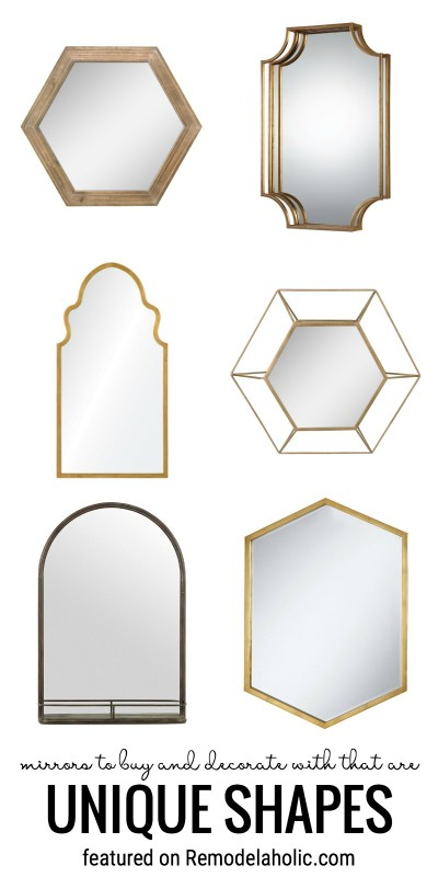 Mirrors To Buy And Decorate With That Are Unique Shapes Featured On Remodelaholic.com