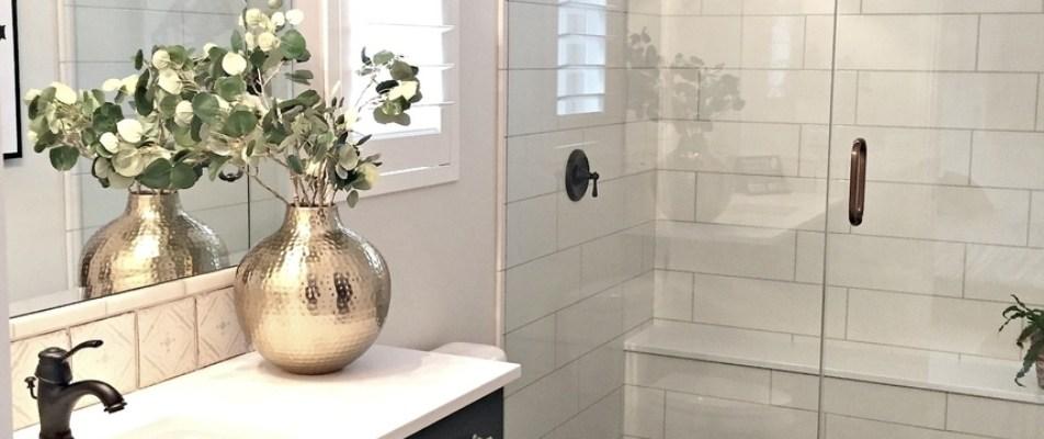 DIY Tile Shower & Tub Update in A Weekend + Spring Decor