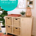 How To Build An Entry Table With Storage Cubbies To Fit IKEA Baskets, Woodworking Plans By Remodelaholic