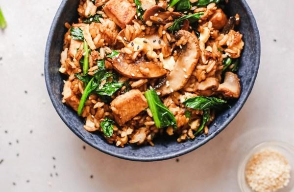 Ginger Chicken Fried Rice