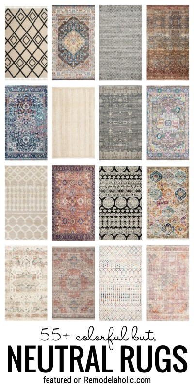 Add Some Neutral Color Into Your Home With One Of These Colorful But Neutral Area Rugs Featured On Remodelaholic.com