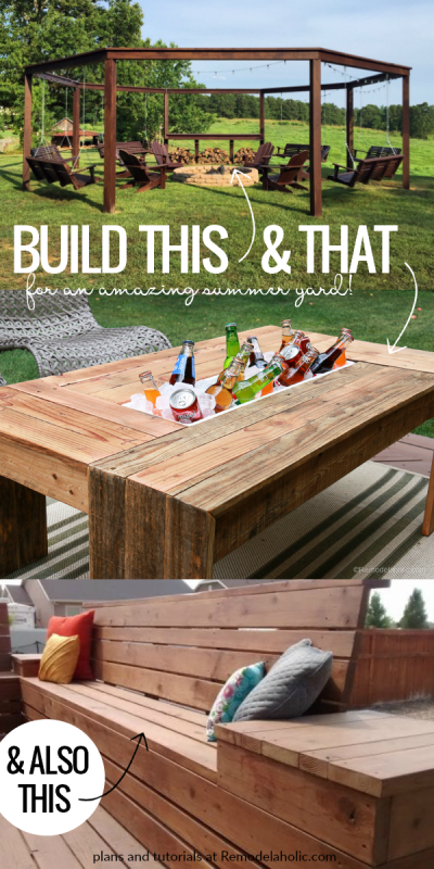 DIY Outdoor Woodworking Project Plans And Tutorials For Summer Yard #remodelaholic