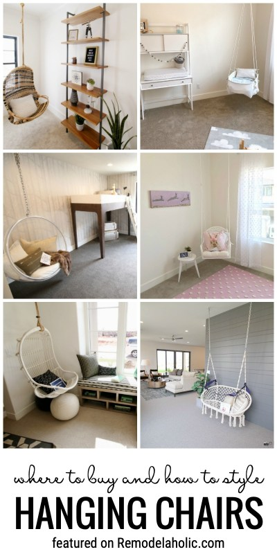 Where To Buy And How To Style Hanging Chairs Featured On Remodelaholic.com
