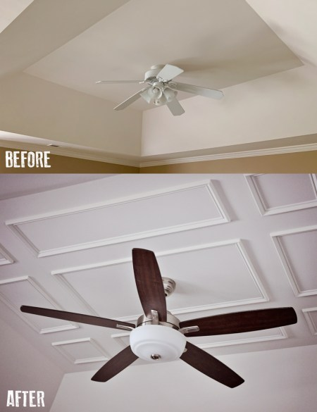 Before And After Ceiling Wainscoting | Planning a DIY Home Renovation Project