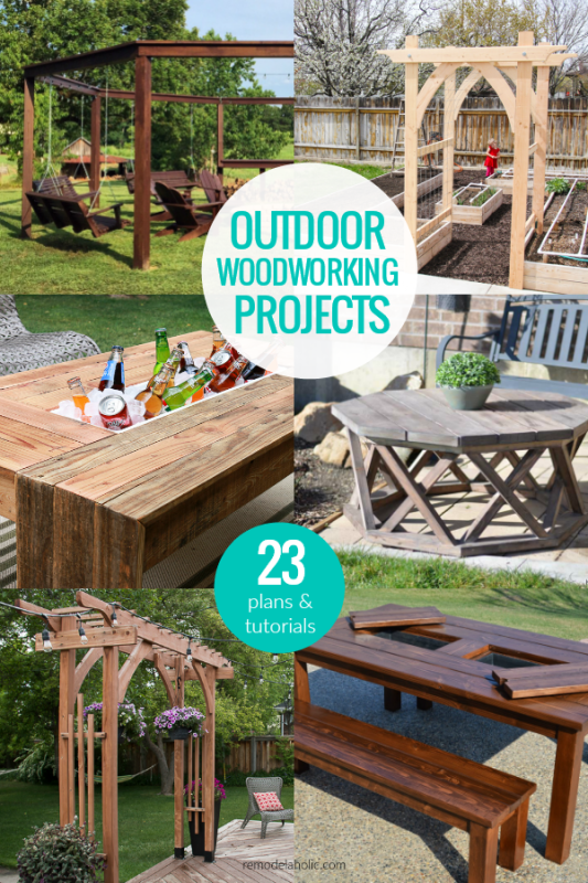Best DIY Outdoor Projects, Woodworking Plans And Tutorials #remodelaholic