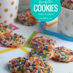 Funfetti Cookie Recipe, Make Rainbow Sprinkle Funfetti Cookies From Scratch #remodelaholic
