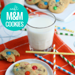 Soft And Chewy Rainbow M&M Cookie Recipe With Butter And Vanilla Pudding Mix #remodelaholic