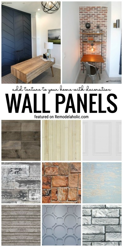 Give Your Walls A Little Love By Adding Some 3d Texture With Decorative Wall Panels. From Brick To Wood To More Featured On Remodelaholic.com