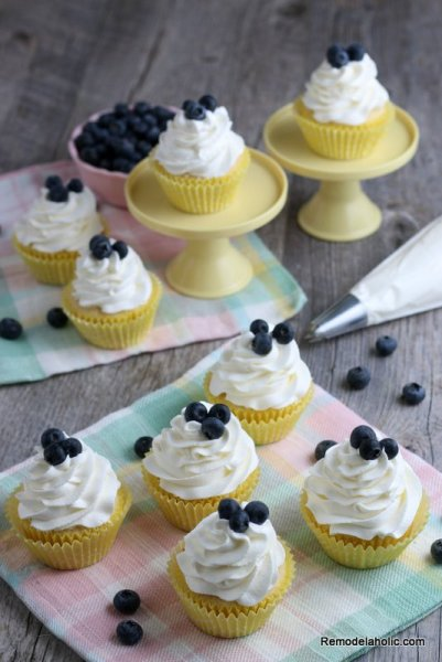 Easy Lemon Cupcake Recipe With Fresh Lemon Juice Remodelaholic (4)