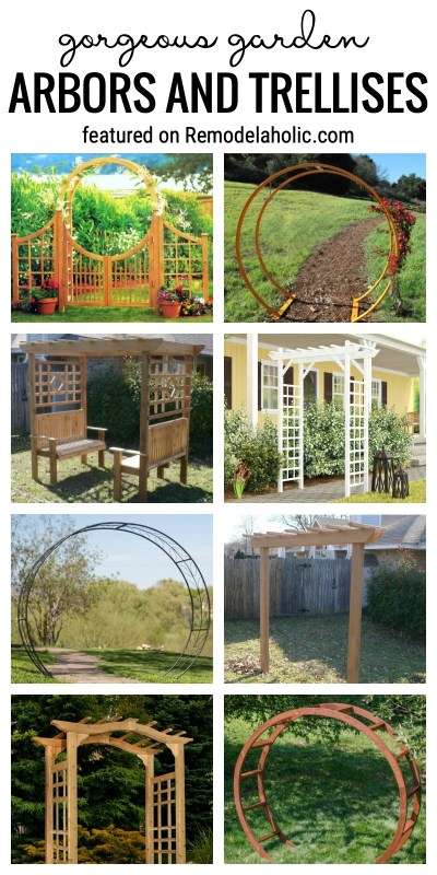 Add Something Special To Your Outdoor Spaces. Gorgeous Garden Arbors And Trellises Featured On Remodelaholic.com