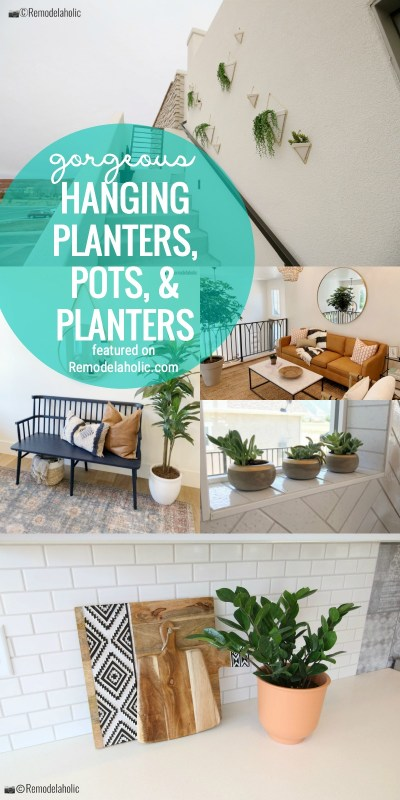 Gorgeous Hanging Planters, Pots, And Planters For Indoors And Outdoors And Decorating All Over The Home Featured On Remodelaholic.com